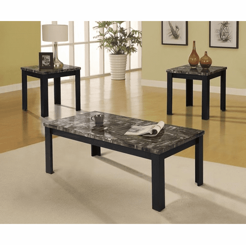 Acme Carly Black 3 Piece<br>Table Set