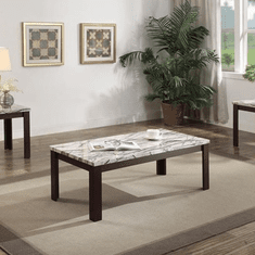 Acme Carly Cherry 3 Piece<br>Table Set