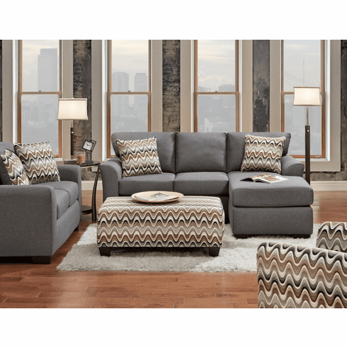 Affordable Cosmopolitan Grey<br>Chaise Sofa