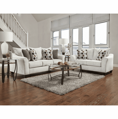 Affordable Furniture<br>Anna Silver Sofa