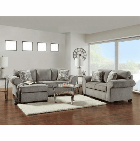 Affordable Marcey Nickel<br>Chaise Sofa