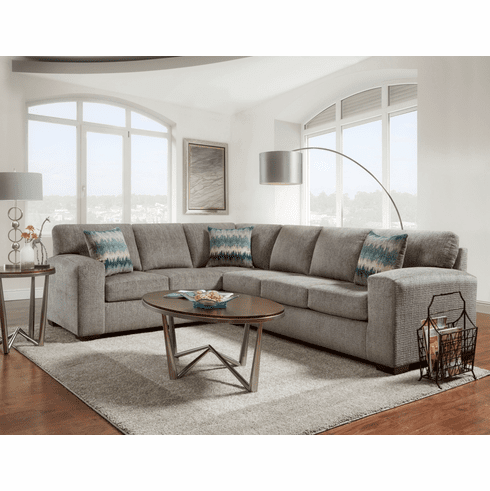 Affordable Furniture<br>Silverton Pewter Sectional