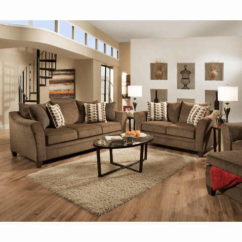 Albany Chestnut Sofa<br>Simmons Furniture