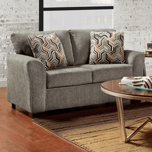 Allure Grey Loveseat by Affordable