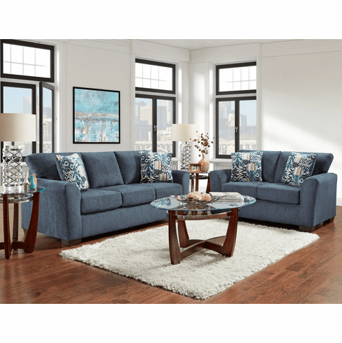Affordable Furniture<br>Allure Navy Sofa