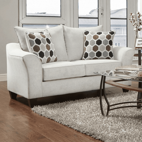 Anna Silver Loveseat<br>Affordable Furniture