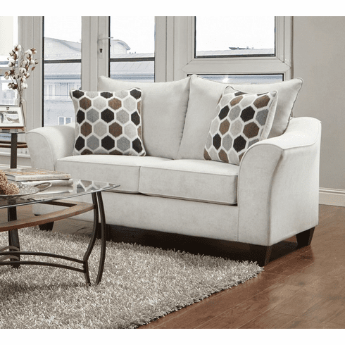 Anna Silver Loveseat by Affordable