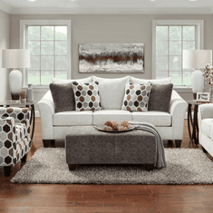 Anna Silver Sofa by Affordable