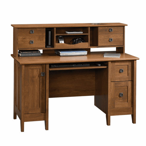 August Hill Desk with Hutch by Sauder