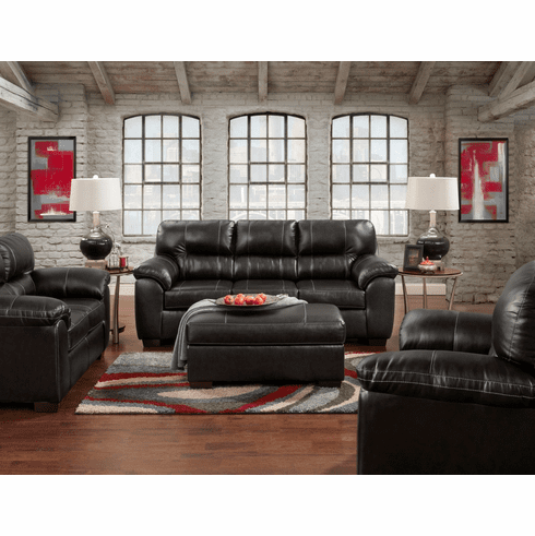 Affordable Furniture<br>Austin Black Sofa