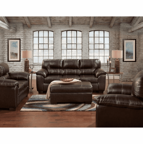 Affordable Furniture<br>Austin Chocolate Sofa