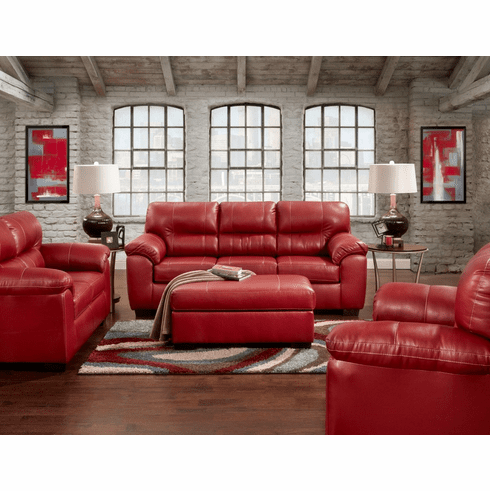 Affordable Furniture<br>Austin Red Sofa