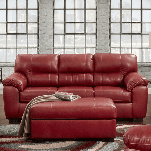 Austin Red Sofa by Affordable