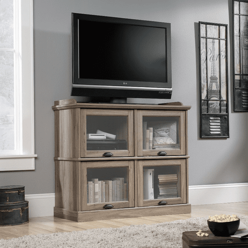 Barrister Lane Salt Oak Highboy TV Stand