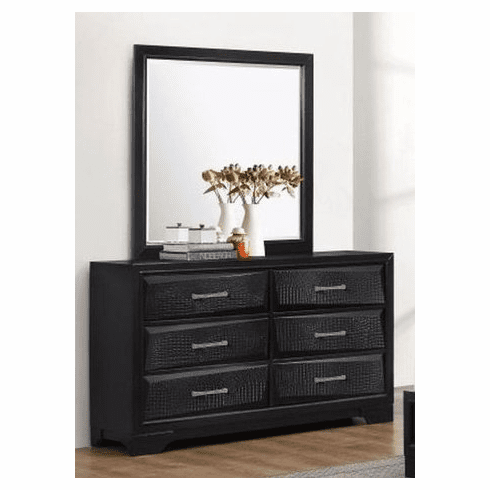 Black Finish Dresser and Mirror by Lifestyle