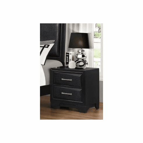Black Finish Nightstand by Lifestyle