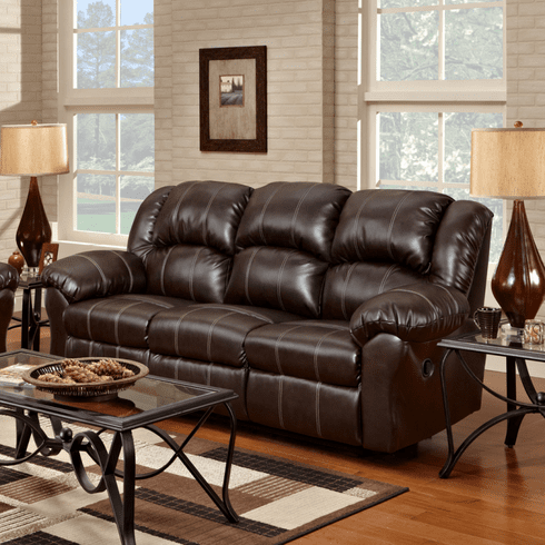 Brandon Brown Reclining Sofa by Affordable