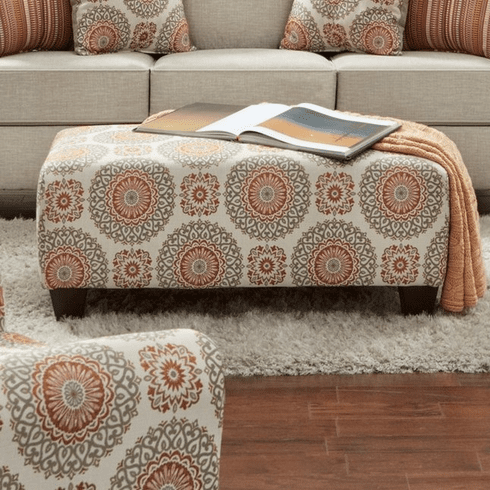 Brianne Marmalade Ottoman<br>Affordable Furniture