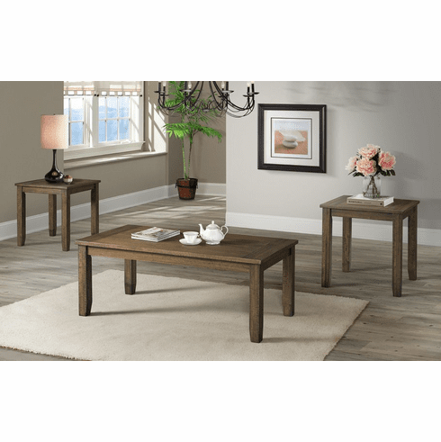 Lane Rustic Brown 3 Piece<br>Table Set
