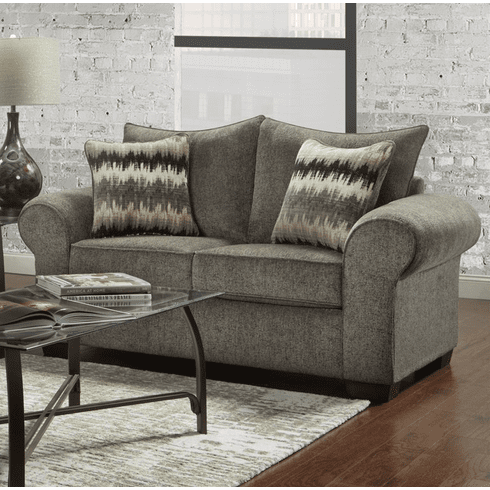 Camero Pewter Loveseat by Affordable
