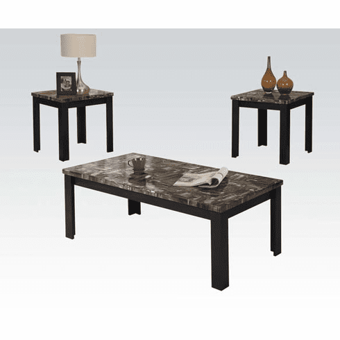 Carly Black 3-Piece Table Set by Acme