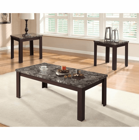 Acme Carly Brown 3 Piece<br>Table Set