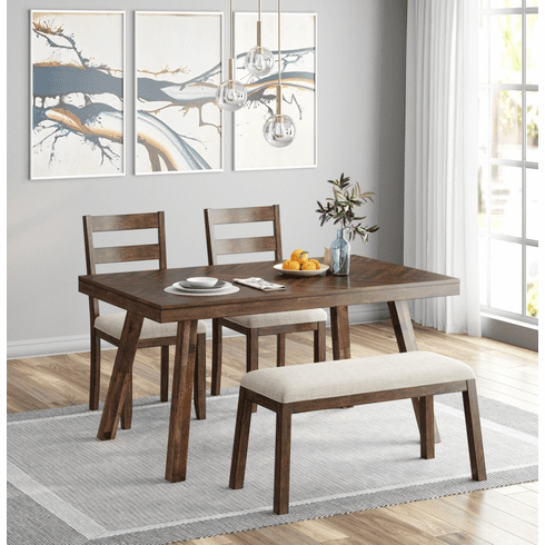 Standard Dark Brown 4 Piece Dining Set