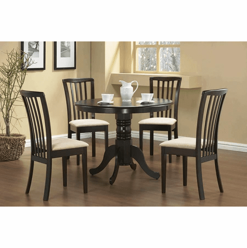 Coaster Brannan Pedastal 5 Piece Dining Set
