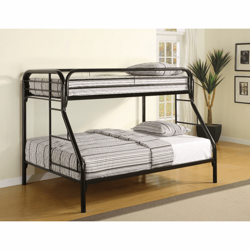 Coaster Black Twin/Full<br>Bunk Bed Frame