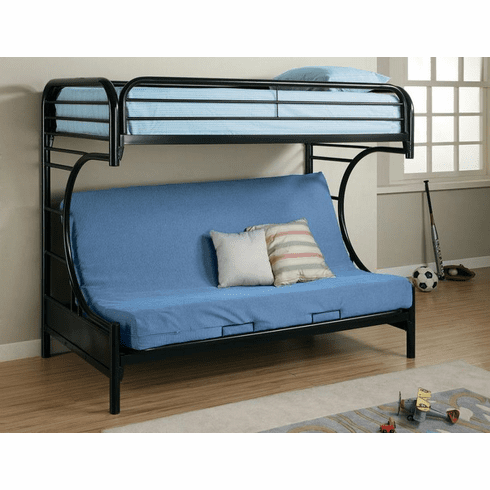Coaster Black Twin/Futon<br>Bunk Bed Frame