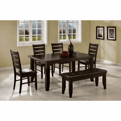 Coaster Cappuccino 6 Piece Dining Set