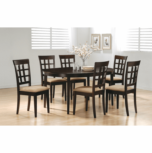 Coaster Cappuccino 7 Piece Dining Set