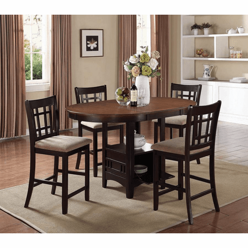 Coaster Chestnut 5 Piece Counter Dining Set