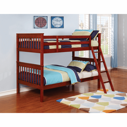 Coaster Chestnut Twin/Twin<br>Bunk Bed Frame