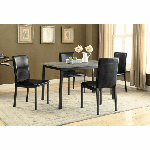 Coaster Garza Metal 5 Piece<br>Dining Set