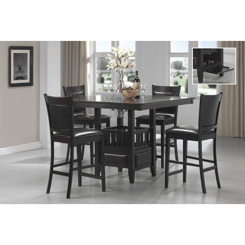 Coaster Jaden Espresso 5 Piece Counter Dining Set