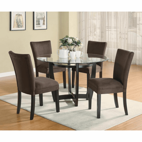 Coaster Glass Parsons 5 Piece Dining Set
