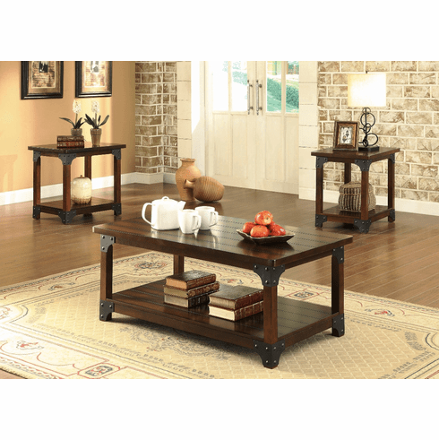 Coaster Craftsman 3 Piece<br>Table Set