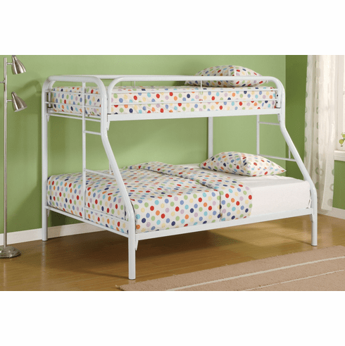 Coaster White Twin/Full<br>Bunk Bed Frame
