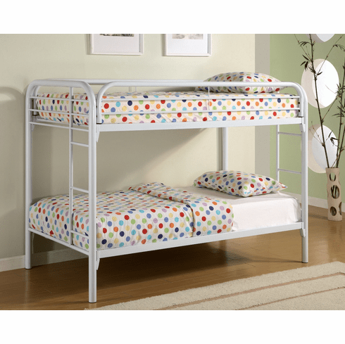 Coaster White Twin/Twin<br>Bunk Bed Frame