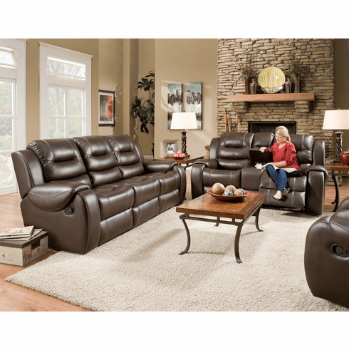 Corinthian Jamestown Umber Reclining Sofa