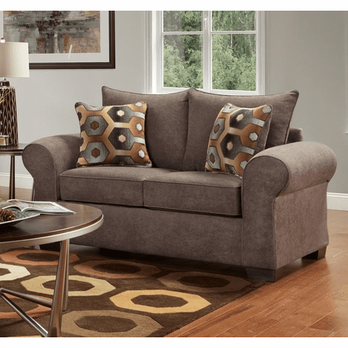 Felix Chocolate Loveseat by Affordable Furniture