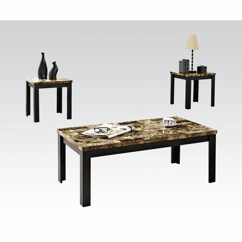 Finley Dark Brown 3-Piece Table Set by Acme