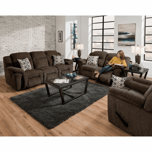 Franklin Donnelly Chocolate<br>Reclining Sofa