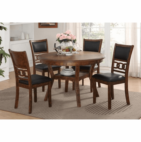New Classic Brown<br>5 Piece Dining Set