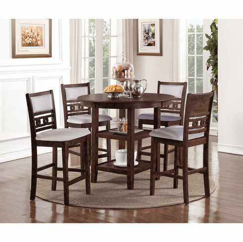 New Classic Cherry 5 Piece<br>Counter Dining Set