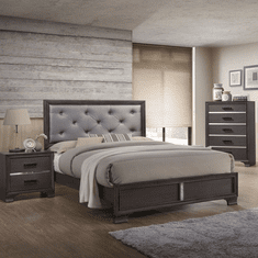 Grey Finish Bedroom Group by Lifestyle