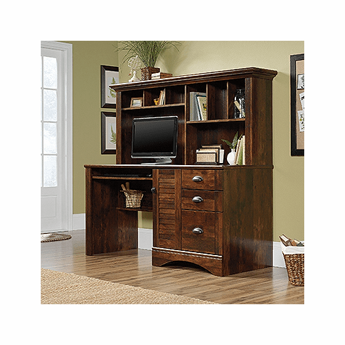 Harbor View Computer Desk with Hutch by Sauder