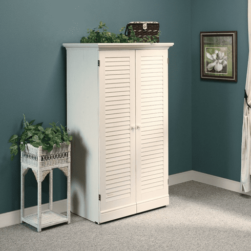 Harbor View Antiqued White Craft Armoire by Sauder