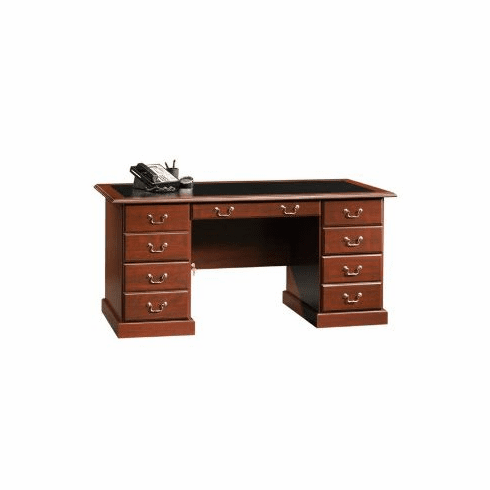Heritage Hill Classic Cherry Executive Desk by Sauder